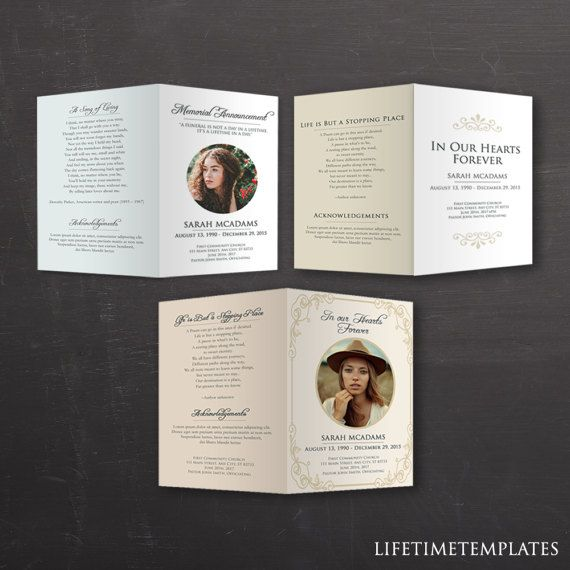 51 best Funeral Program Templates images on Pinterest Program - funeral flyer template