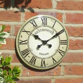 Buy Outside In Westminster Tower Cream Wall Clock 12in from our Clocks range - Tesco