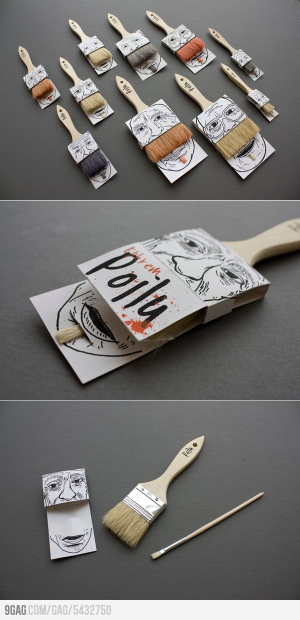 Smart Brush Packaging: Mustache: Awesome Packaging, Smart Packaging, Brushes Packaging, Packaging Design, Packs Ideas, Graphics Design, Paintings Brushes, Smart Brushes, Paintbrush Packs