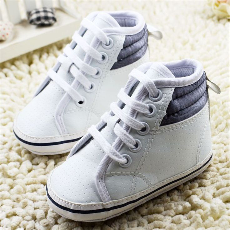 >> Click to Buy << New Infant Toddler Newborn Baby Shoes soft sole lace-up PU white Unisex Classic Sports Sneakers chaussures sepatu bayi laki #Affiliate