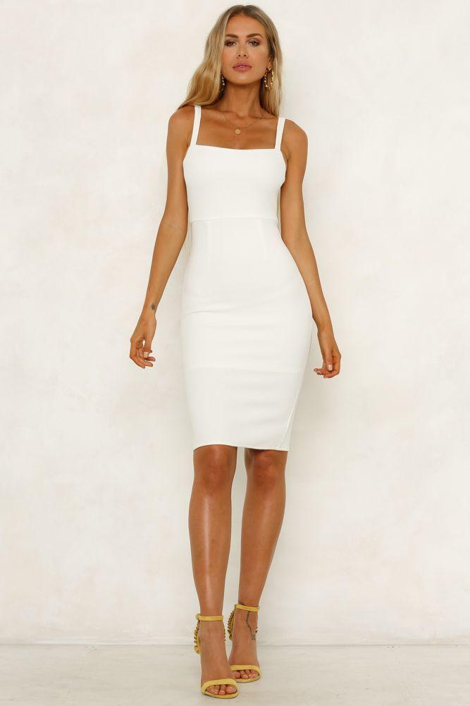 ff797202cb80 Made In Michigan Midi Dress White