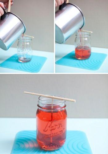 Poured Mason Jar Candle by Jen Carreiro | Project | Home Decor / Accessories | Coasters & Tableware | Kollabora