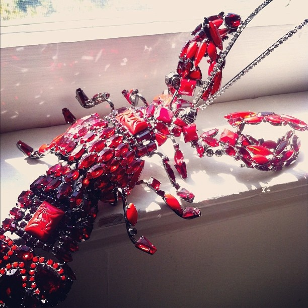 Giant VRBA Lobster brooch or could it be David Mendel The Show Must Go On
