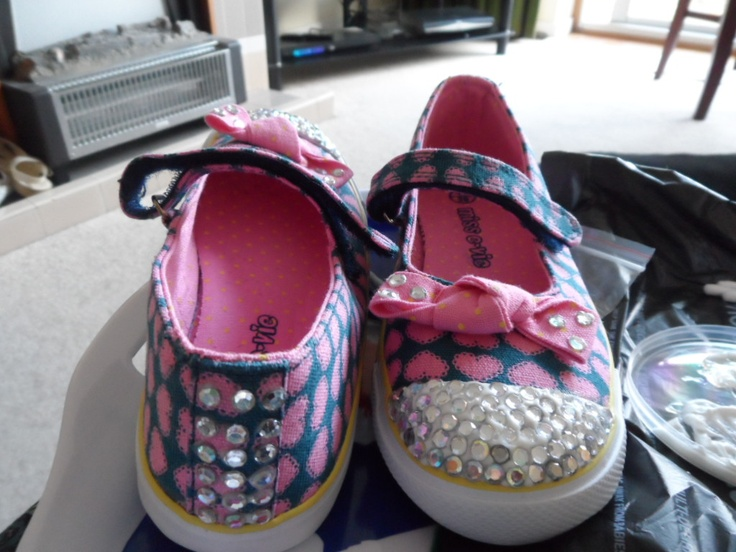 Blinging sparkle gems to trainers