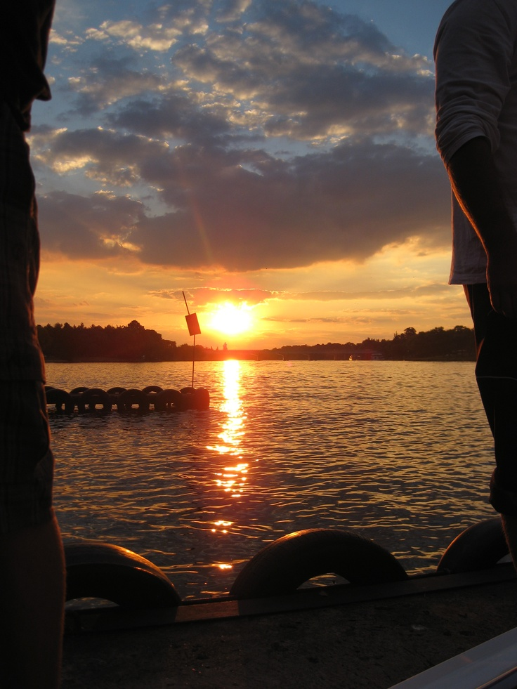 Sunset at the Vaal... 1/4/2012