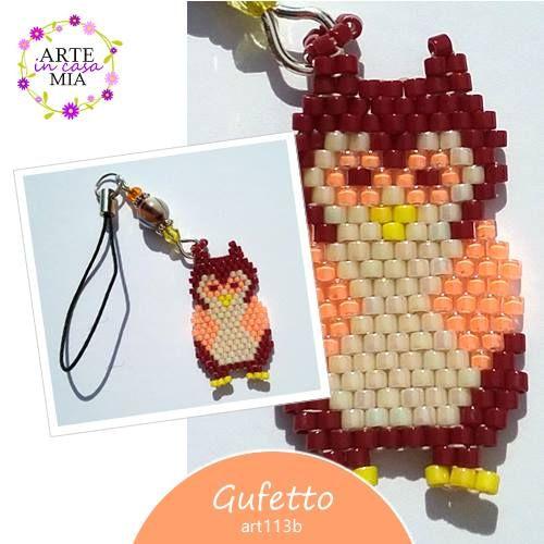 Sei alla ricerca di un'idea originale per un piccolo regalo ad un'amica? Il #GUFETTO, un simpatico laccetto per cellulare realizzato a mano con la tecnica peyote, è proprio quello che stai cercando!