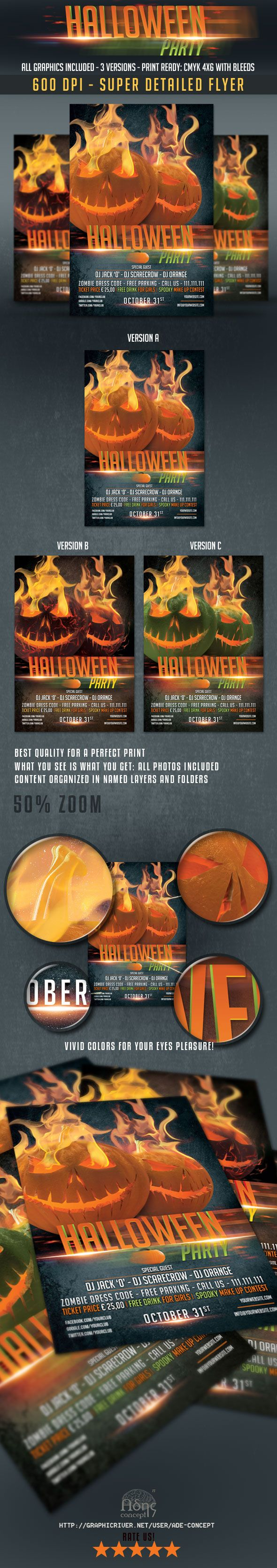 Halloween Flyer Template on GraphicRiver  #halloween #flyer #template #graphicriver  http://graphicriver.net/item/halloween-flyer/9032133?WT.ac=portfolio&WT.z_author=ade-concept&ref=ade-concept
