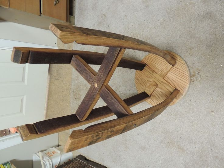 Best 25 wine barrel bar stools ideas on pinterest for Diy whiskey barrel bar