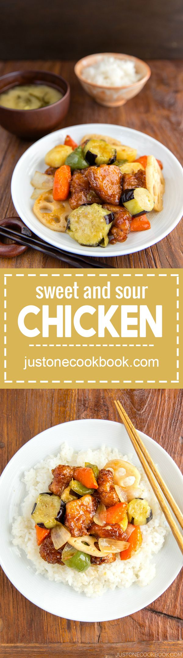 Sweet and Sour Chicken (大戸屋 - 鶏と野菜の黒酢あん) | Easy Japanese Recipes at JustOneCookbook.com