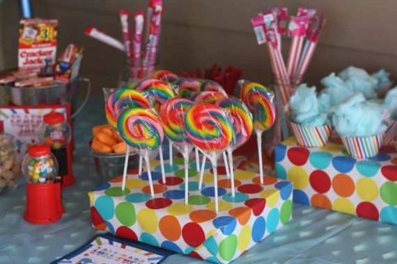 Have to remember the lollipops and cotton candy for the party!