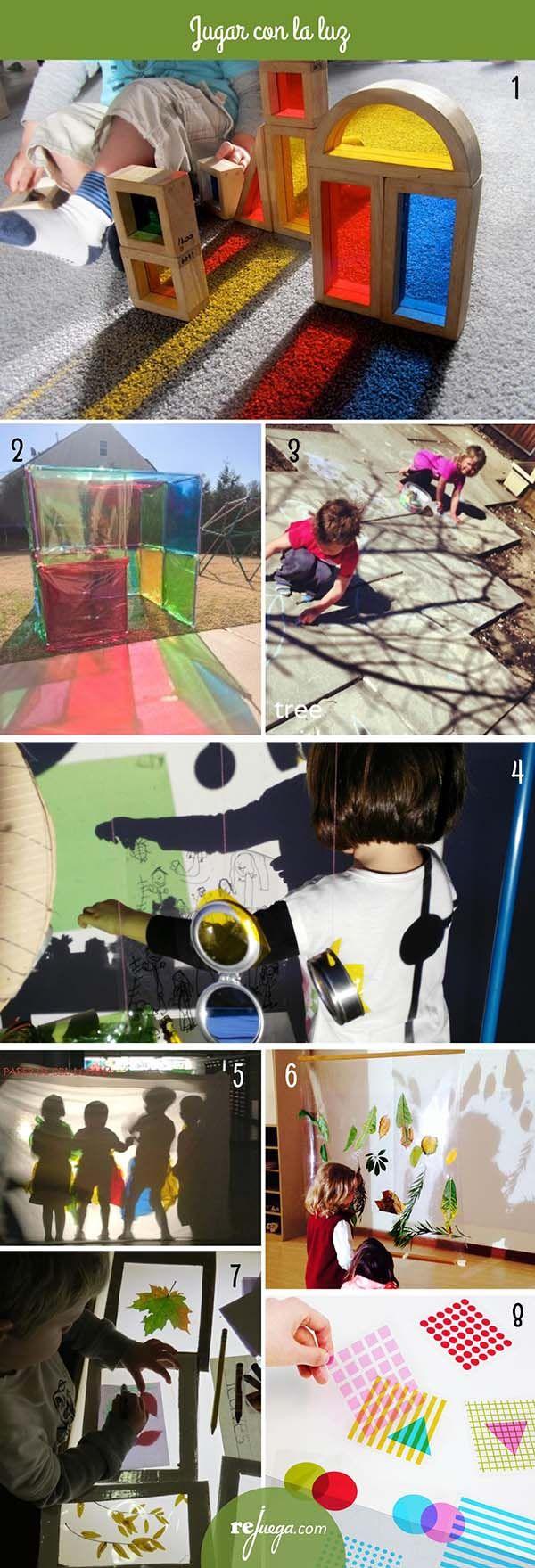 ideas para niños para jugar con la luz
