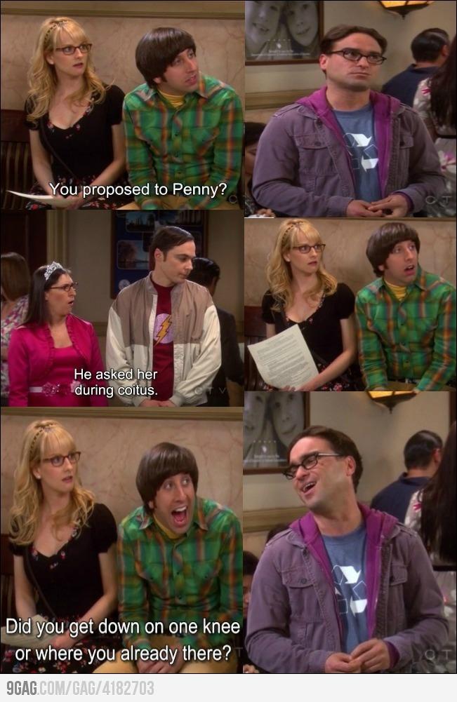 The Big Bang Theory - Howard making fun of Leonard