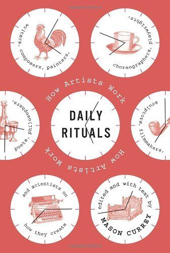 Daily Rituals: How Artists Work by Mason Currey, http://www.amazon.com/dp/0307273601/ref=cm_sw_r_pi_dp_6CzKtb1JTYMKV
