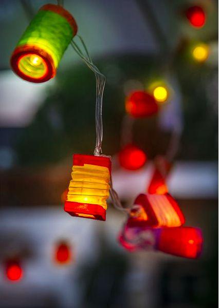 Lampion Lichterkette (verschiedene Ausführungen)