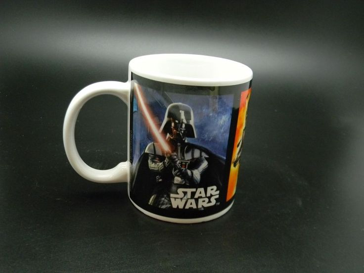 Star Wars Coffee Cup Mug 10 oz Darth Vader Boba Fett Bad Guys 2012 #Unbranded