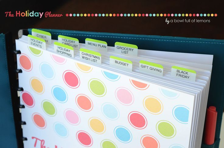 Holiday Planner - Includes everything you need to completely organize your holidays!!