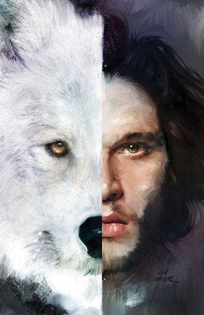 'Jon Nieve' y 'Fantasma' #JuegoDeTronos #GOT                                                                                                                                                     Más