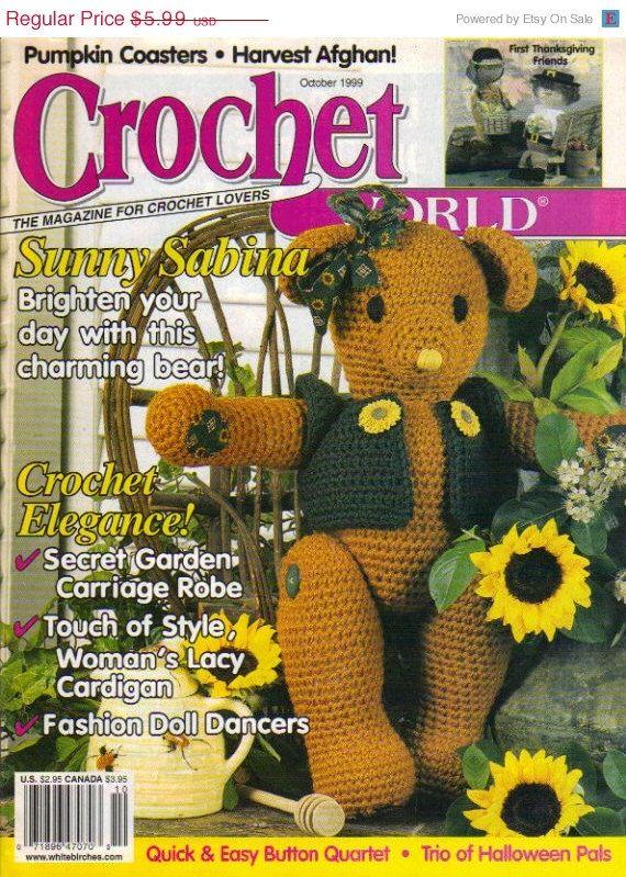 """Vintage """"Crochet World"""" Magazine October 1999. The Magazine For Crochet Lovers."""