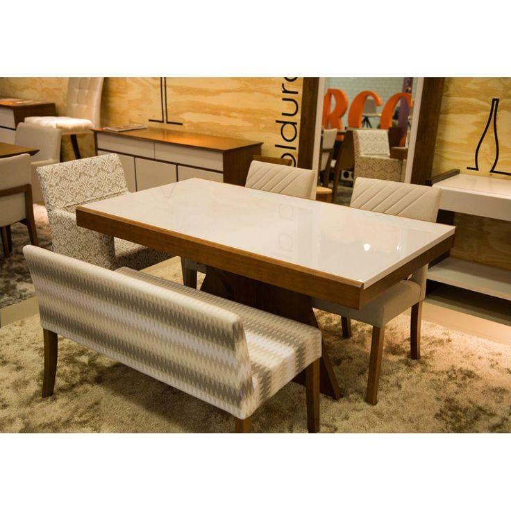 Mesa de Jantar Pérola Extensível M2011 para 4 a 6 cadeiras - Mesa de Jantar no CasasBahia.com.br