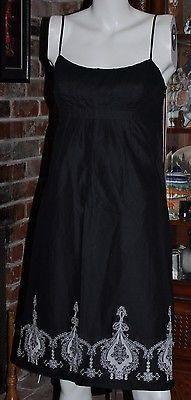 ANN TAYLOR LOFT PETITE SIZE 6P BLACK SUMMER DRESS SPAGHETTI STRAP WHIT – La Guanaquita's Closet