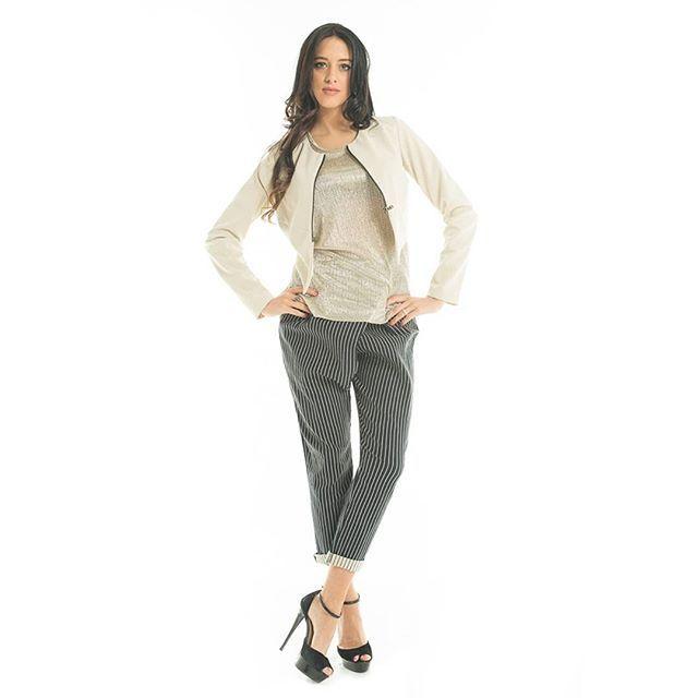 #Pantaloni dal taglio tipicamente maschile ma ricchi di #femminilità  #scopri la nuova #collezione #primavera #estate #GianVargian