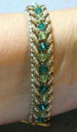 Free Beaded Bracelet Patterns | Visions - Main Template