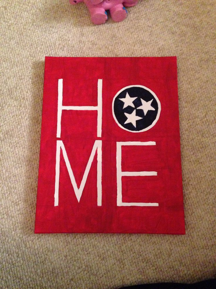 """""""Home"""" canvas #diy #tennessee i think ill make this for chucks future apt"""