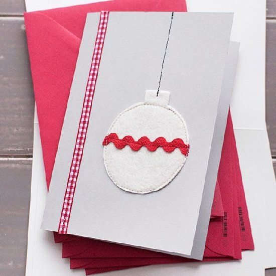 Make these easy Christmas Cards with felt and ribbon and surprise your loved ones! (In Spanish and English)