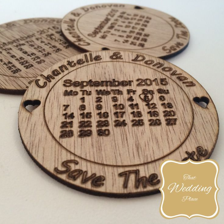 Wedding Save The Date - Calendar Round