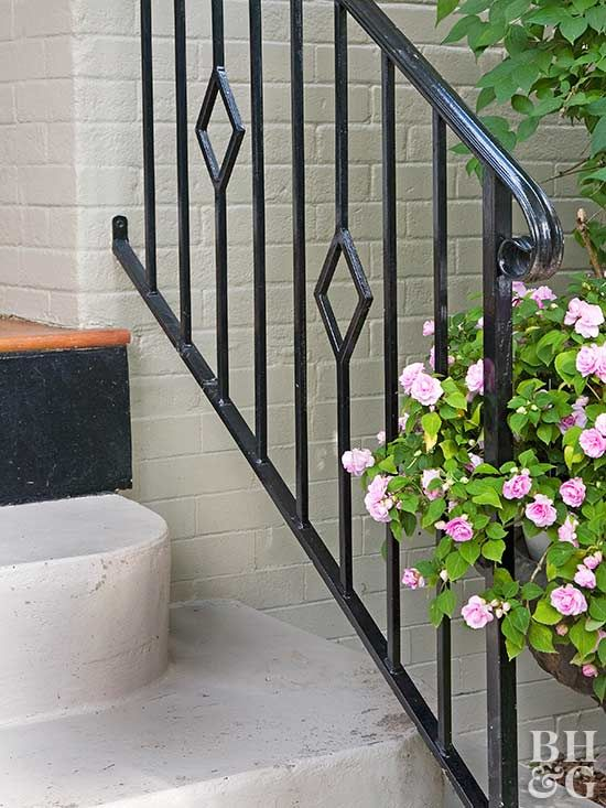 Up Your Home S Curb Appeal With A Fresh Coat Of Paint To Make Concrete Stairs And Walkways Look Like New Railings Outdoor Exterior Stairs Outdoor Stair Railing
