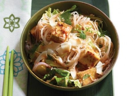 Singapore Noodles with Golden Tofu and Coconut | Vegetarian Times