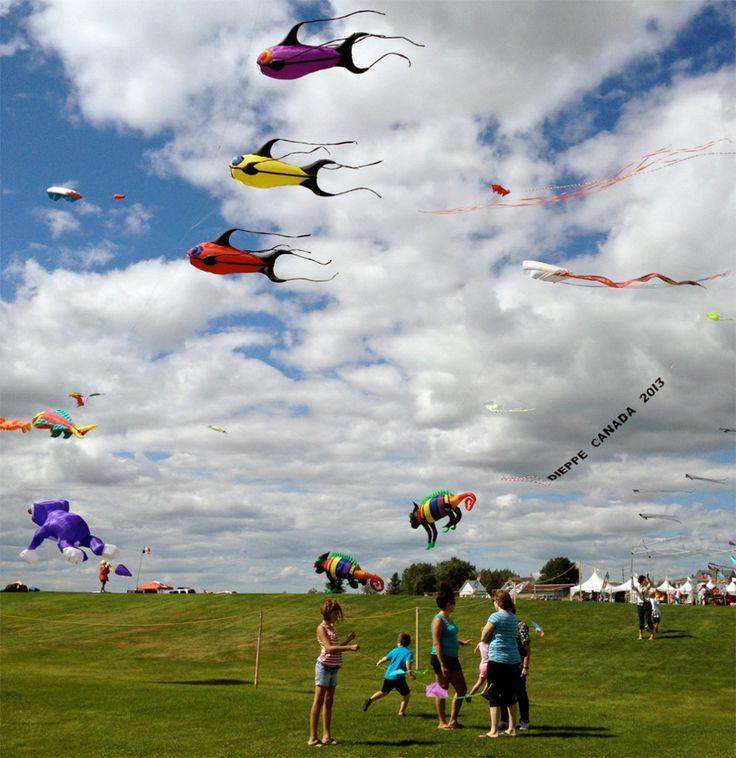 The International Kite Festival in Dieppe, NB