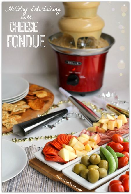 Fun #WaysToWow for Holiday Entertaining with Cheese Fondue & Town House Crackers from @target, perfect for New Years Eve! #ad (Chocolate Fountain Recipe)