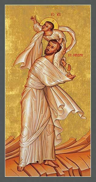 St. Joseph with the Child Jesus - Icon Reproduction