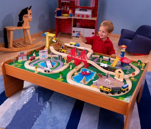 KidKraft Ride Around Train Set and Table [Toy] P.Number 17836.  sc 1 st  Pinterest & 16 best Train Table Sets images on Pinterest | Train table Trains ...