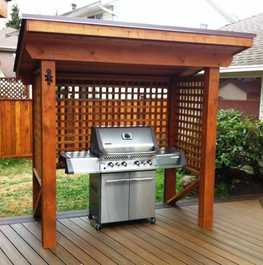 21 grill gazebo shelter and pergola designs shelterness - Grill Covers