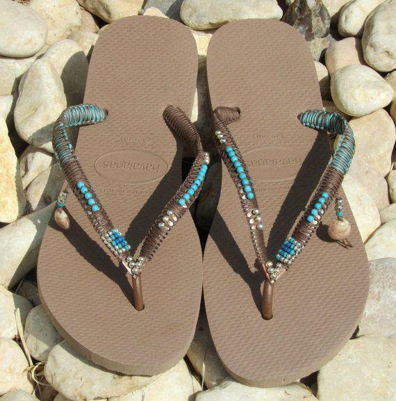Flip Flops Havaianas sandalias con cuentas cuentas ojotas