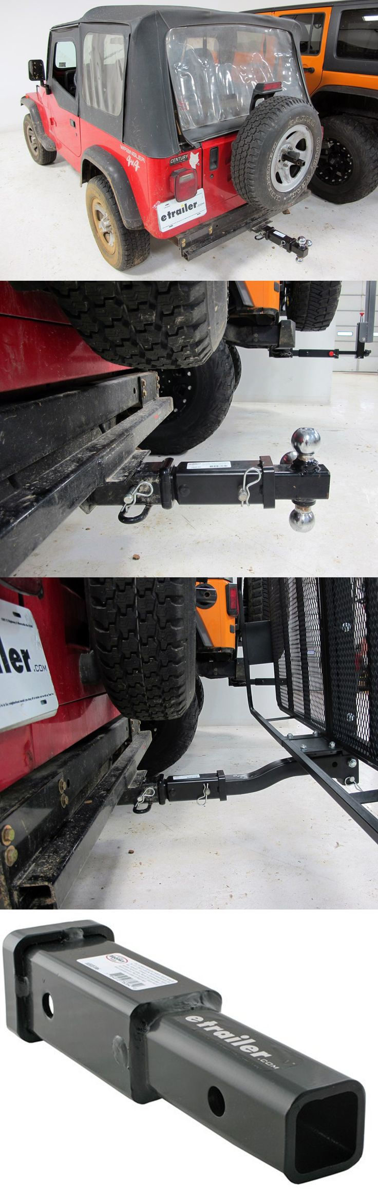 7 trailer hitch extender compatible with the jeep wrangler prevent hitting trailer or