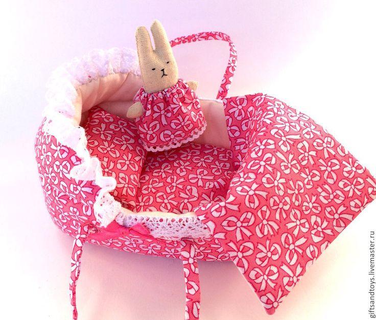Купить Переноска для пупсика - розовый, переноска, кукольная миниатюра, аксессуары для кукол, кукольная мебель