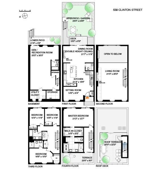 283 best images about town homes on pinterest 2nd floor for Brownstone townhouse plans