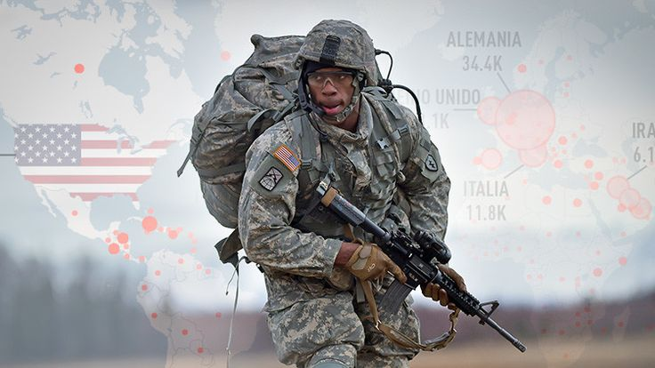 ❝ MAPA: Los lugares del mundo con mayor presencia de personal activo militar de EE.UU. ❞ ↪ Vía: proZesa