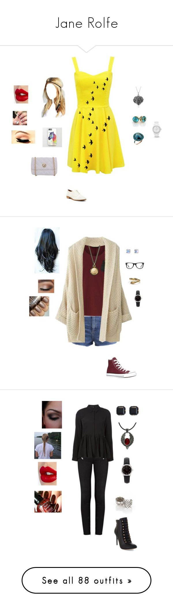 """""""Jane Rolfe"""" by brelea-1 ❤ liked on Polyvore featuring Annoushka, Enzo Angiolini, Boohoo, FOSSIL, Charlotte Tilbury, Journee Collection, Free People, Dorothy Perkins, Kate Spade and Muse"""