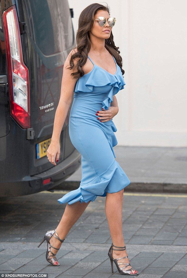 Glamour puss: Jess Wright put on yet another stylish display on Thursday, as she embarked ...