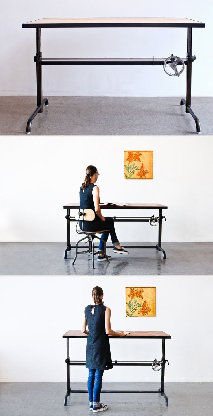 Adler Adjustable Height Table