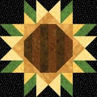 Sunflower Quilt Block pattern $3.49 on Pam's Club at http://pamsclub.com/main-store-menu/13-e-patterns-pdf/24-blocks-for-all-occasions/261-sunflower