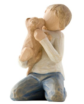 """""""Kindness (Boy)"""" Willow Tree Figurines, place with mother and son ((swooooon))"""