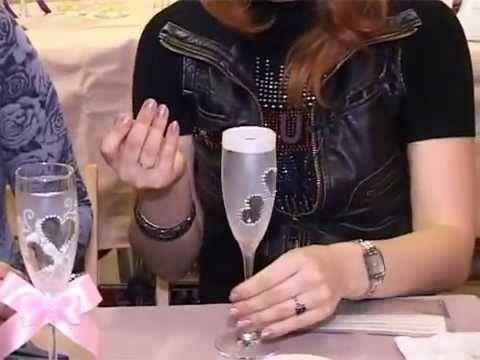 Мастер класс свадебные бокалы своими руками mpg