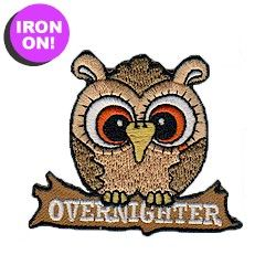 Overnighter Fun Patch! Iron on! Check out all of our fun patches on PatchFun.com