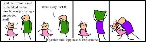 The Purple Shirted Eye Stabber. My favorite of the Cyanide and Happiness comics.