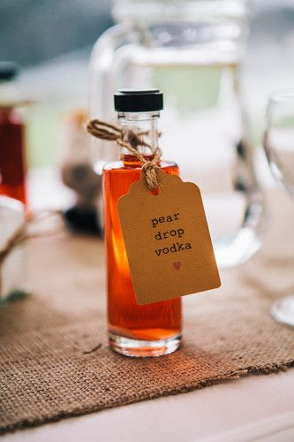 Pear Drop Vodka Wedding Favour